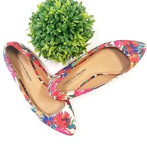 💥Christian Siriano Floral Pointy-Toe Flats
